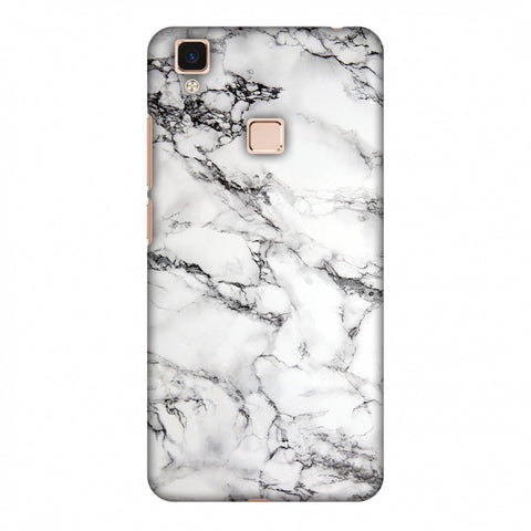 White Marble 2 Slim Hard Shell Case For Vivo V3 Max