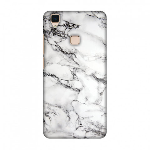 White Marble 2 Slim Hard Shell Case For Vivo V3