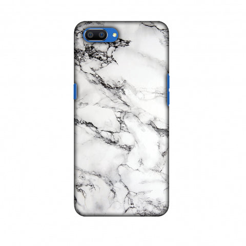 White Marble 2 Slim Hard Shell Case For Oppo Realme C1