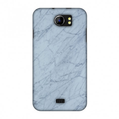 White Marble 3 Slim Hard Shell Case For Micromax Canvas 2 A110