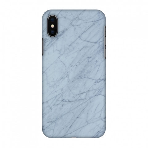 White Marble 3 Slim Hard Shell Case For Apple iPhone X