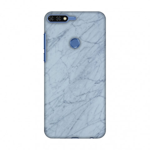 White Marble 3 Slim Hard Shell Case For Huawei Honor 7C