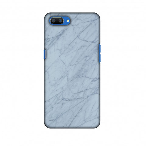 White Marble 3 Slim Hard Shell Case For Oppo Realme C1