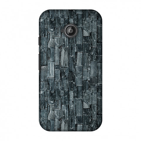 Charcoal Marble Slim Hard Shell Case For Motorola Moto E 2nd Gen