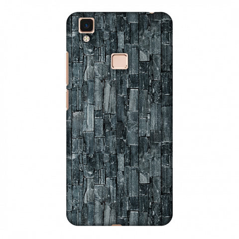 Charcoal Marble Slim Hard Shell Case For Vivo V3 Max