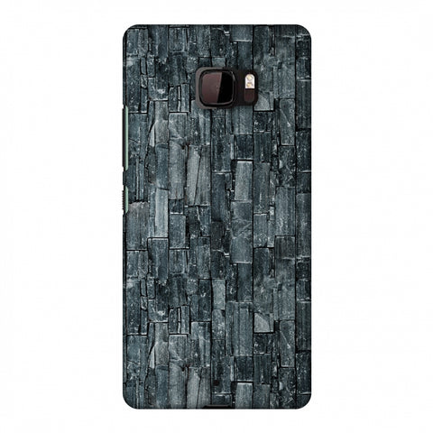 Charcoal Marble Slim Hard Shell Case For HTC U Ultra