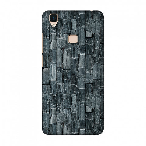 Charcoal Marble Slim Hard Shell Case For Vivo V3
