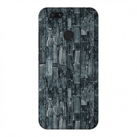 Charcoal Marble Slim Hard Shell Case For Xiaomi MI A1-5X