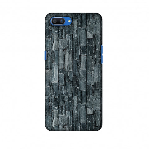 Charcoal Marble Slim Hard Shell Case For Oppo Realme C1