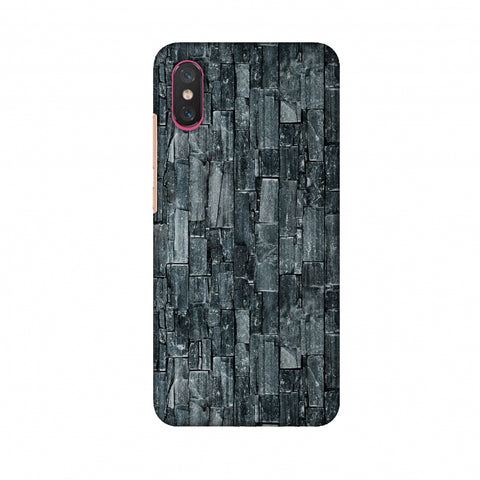 Charcoal Marble Slim Hard Shell Case For Xiaomi Mi 8 Pro