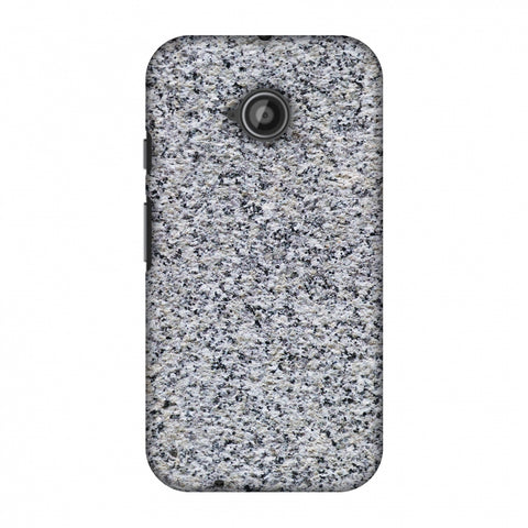 Granite Marble Slim Hard Shell Case For Motorola Moto E 2nd Gen