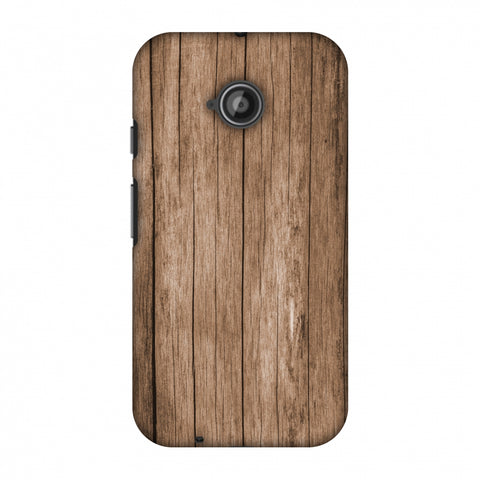 Walnut Wood Slim Hard Shell Case For Motorola Moto E 2nd Gen