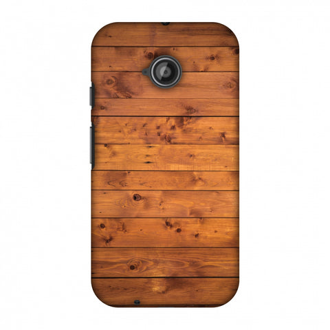 Honey Wood Slim Hard Shell Case For Motorola Moto E 2nd Gen