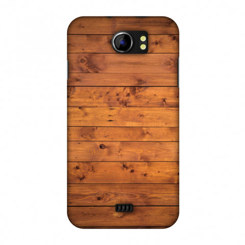 Honey Wood Slim Hard Shell Case For Micromax Canvas 2 A110
