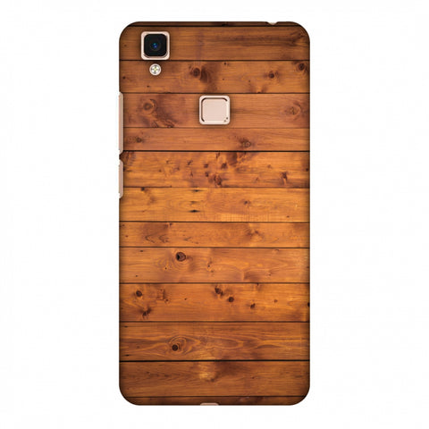 Honey Wood Slim Hard Shell Case For Vivo V3 Max