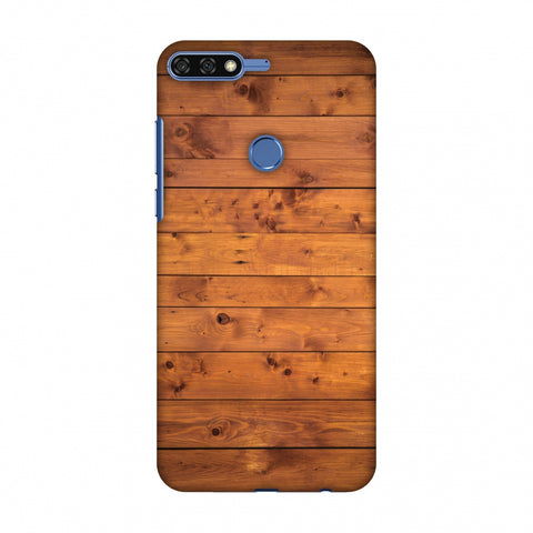Honey Wood Slim Hard Shell Case For Huawei Honor 7C