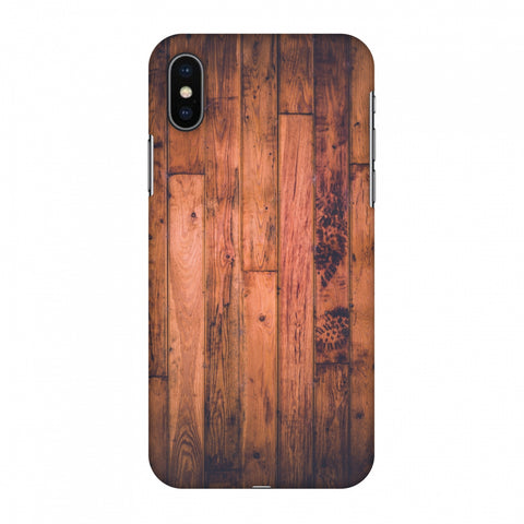 Rusty Wood Slim Hard Shell Case For Apple iPhone X