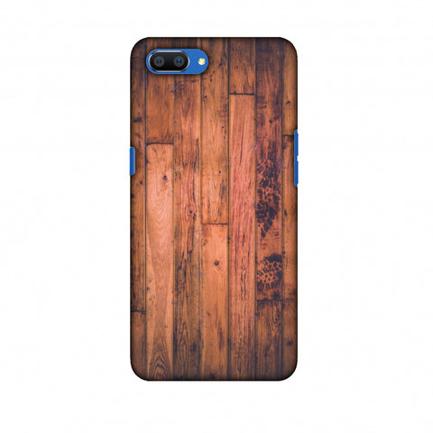 Rusty Wood Slim Hard Shell Case For Oppo Realme C1