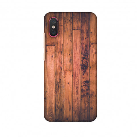 Rusty Wood Slim Hard Shell Case For Xiaomi Mi 8 Pro