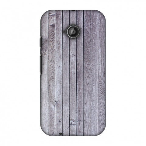 Grey Wood Slim Hard Shell Case For Motorola Moto E 2nd Gen