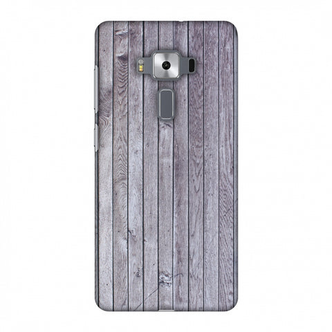 Grey Wood Slim Hard Shell Case For Asus Zenfone 3 Deluxe ZS570KL