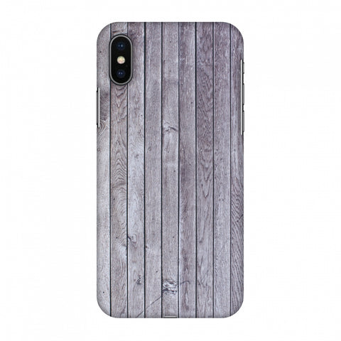 Grey Wood Slim Hard Shell Case For Apple iPhone X