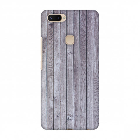 Grey Wood Slim Hard Shell Case For Vivo X20 Plus