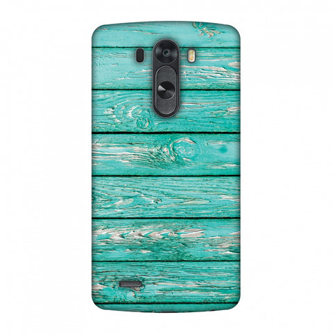 Teal Wood Slim Hard Shell Case For LG G4
