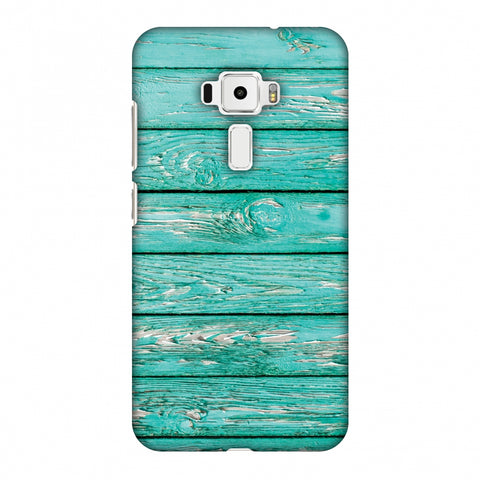 Teal Wood Slim Hard Shell Case For Asus Zenfone 3 ZE520KL