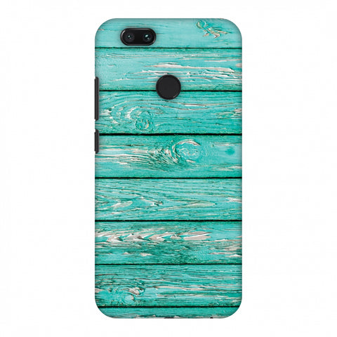 Teal Wood Slim Hard Shell Case For Xiaomi MI A1-5X