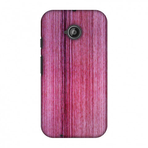 Pink Wood Slim Hard Shell Case For Motorola Moto E 2nd Gen