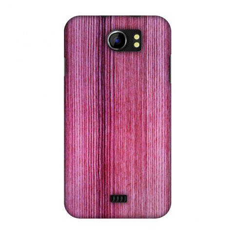 Pink Wood Slim Hard Shell Case For Micromax Canvas 2 A110