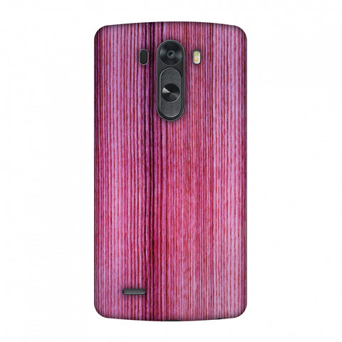 Pink Wood Slim Hard Shell Case For LG G4