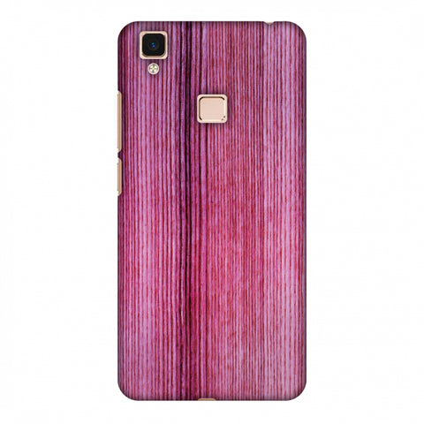 Pink Wood Slim Hard Shell Case For Vivo V3 Max