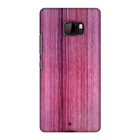 Pink Wood Slim Hard Shell Case For HTC U Ultra