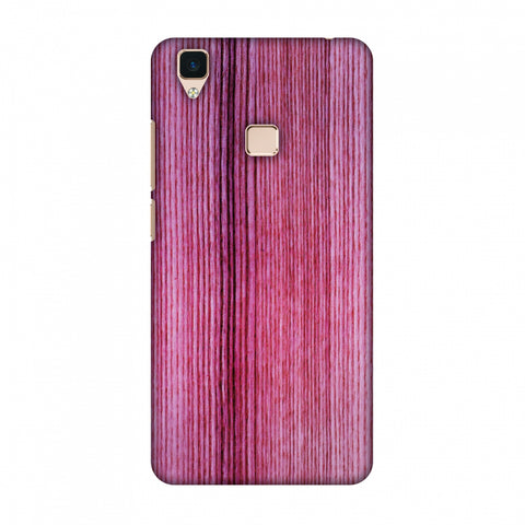 Pink Wood Slim Hard Shell Case For Vivo V3