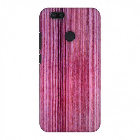 Pink Wood Slim Hard Shell Case For Xiaomi MI A1-5X