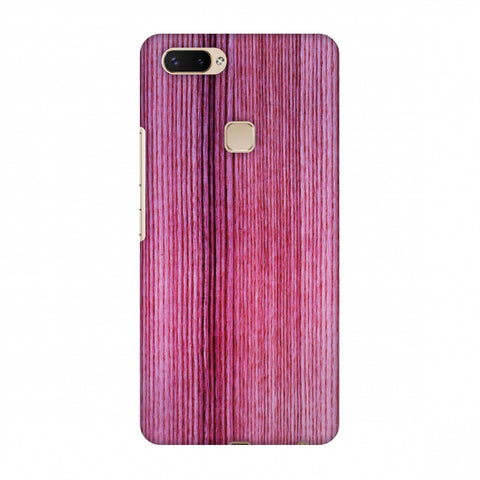 Pink Wood Slim Hard Shell Case For Vivo X20 Plus