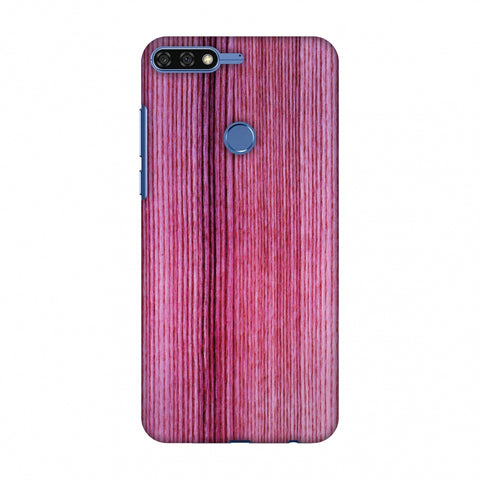 Pink Wood Slim Hard Shell Case For Huawei Honor 7C