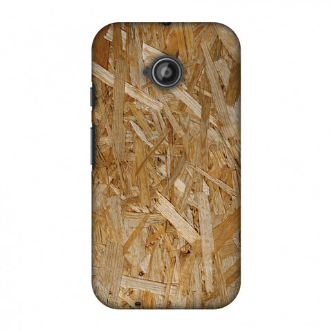 Chipboard Wood Slim Hard Shell Case For Motorola Moto E 2nd Gen