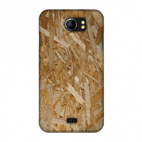Chipboard Wood Slim Hard Shell Case For Micromax Canvas 2 A110
