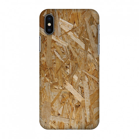 Chipboard Wood Slim Hard Shell Case For Apple iPhone X