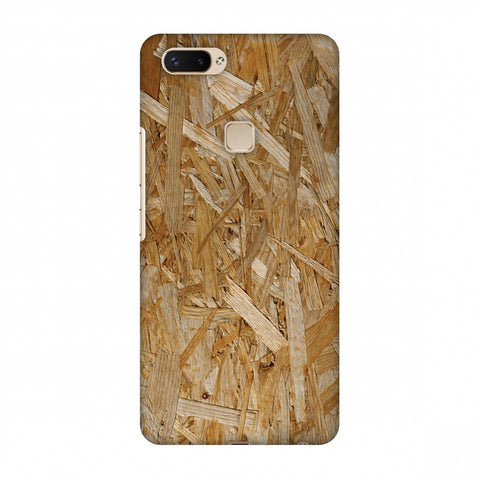 Chipboard Wood Slim Hard Shell Case For Vivo X20 Plus