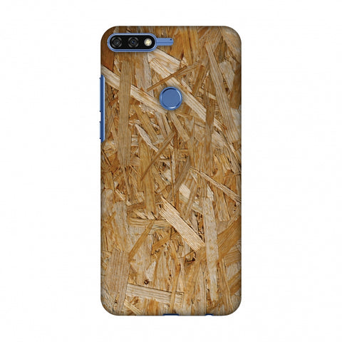 Chipboard Wood Slim Hard Shell Case For Huawei Honor 7C