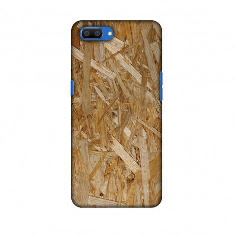 Chipboard Wood Slim Hard Shell Case For Oppo Realme C1