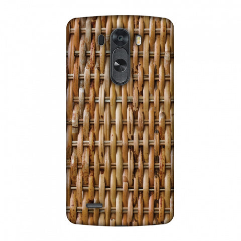 Wicker Wood Slim Hard Shell Case For LG G4