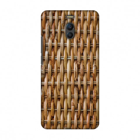 Wicker Wood Slim Hard Shell Case For Meizu Note 6