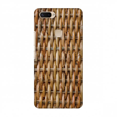 Wicker Wood Slim Hard Shell Case For Vivo X20 Plus