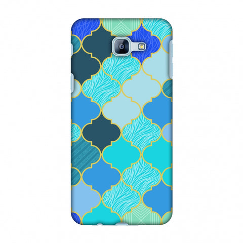 Stained Glass - Carribean Blue Slim Hard Shell Case For Samsung Galaxy A8 2016