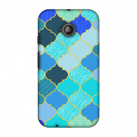 Stained Glass - Carribean Blue Slim Hard Shell Case For Motorola Moto E 2nd Gen